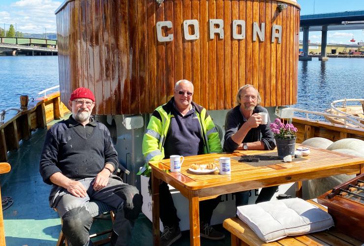 Båten Corona på Gyldenløve brygge