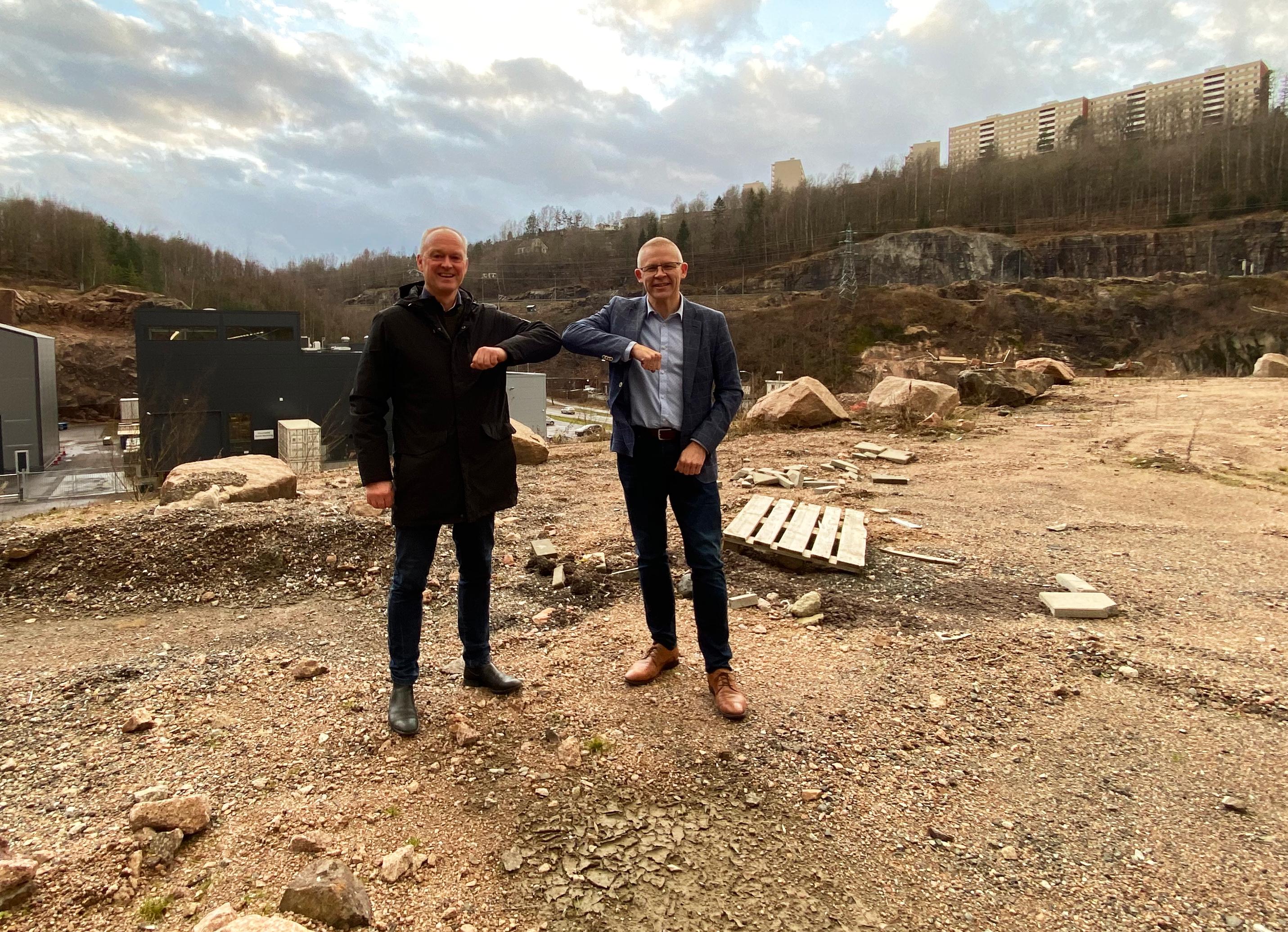 Morten Hotvedt og Bjørn Holm på Kobbervik Næringspark